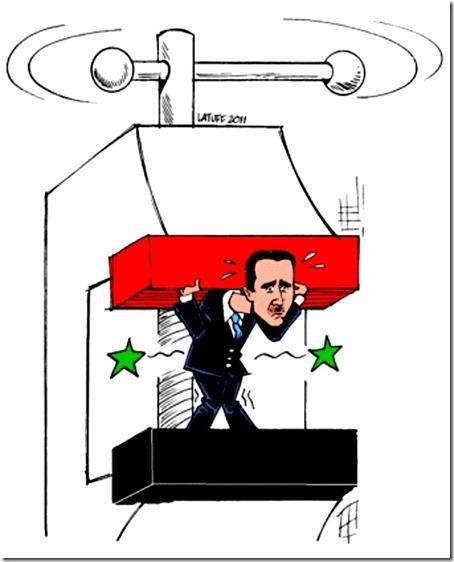 Bashar al-Assad in vise toon