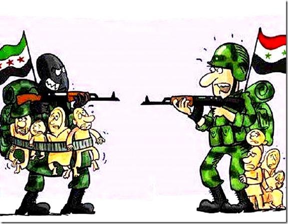FSA evil - Assad evil toon