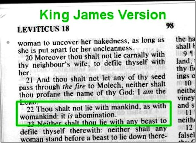 Leviticus homosexuality response