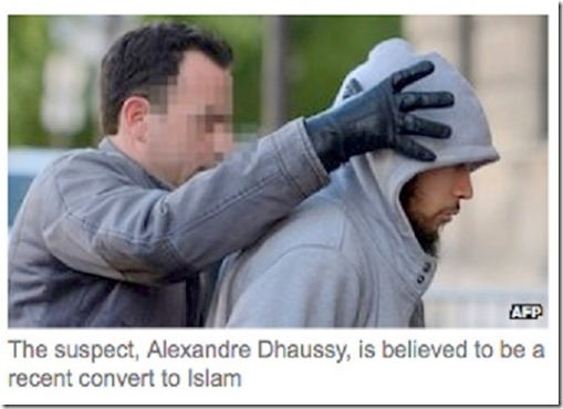 The stabbing of a soldier in France, again by a Muslim