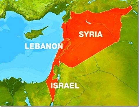 Israel-Syria map