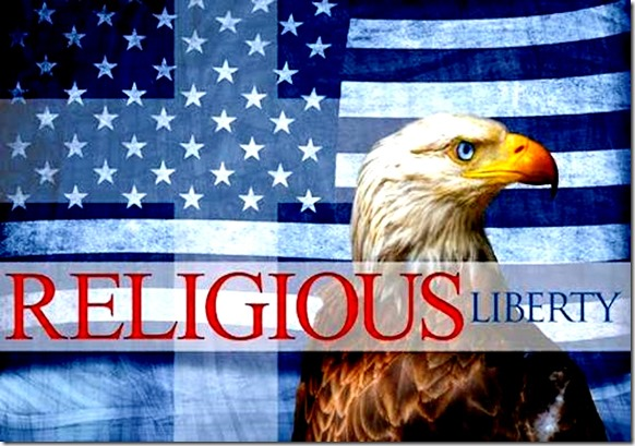 Religious Liberty - Flag -Bald Eagle