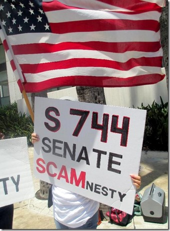 S. 744 - Scamnesty sign