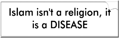 Islam a Disease Bumper Sticker