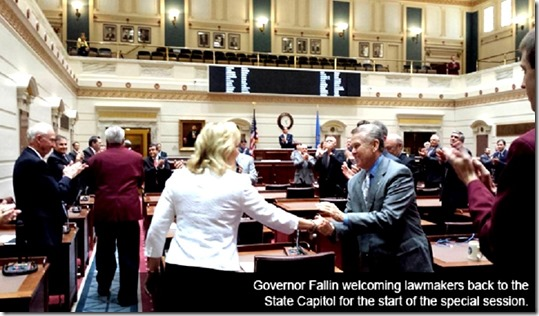 Gov Mary Fallin Special Session of State Congress