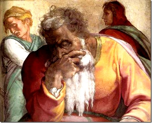 Jeremiah by Michaelangelo Cistine Chapel