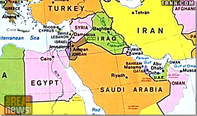 Middle East Hegemony Map