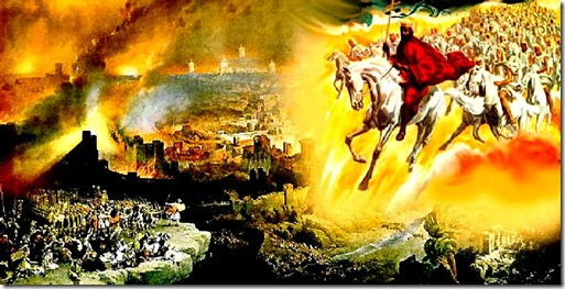 Jesus White Horse leading Saints 2