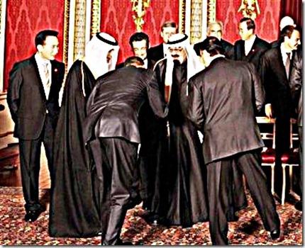 President Obama bows to the Saudi King