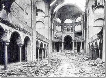 Kristallnacht 1938 - Fasanenstrasse Synagogue in Berlin