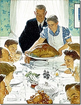 Norman Rockwell, 1943 - American Thanksgiving