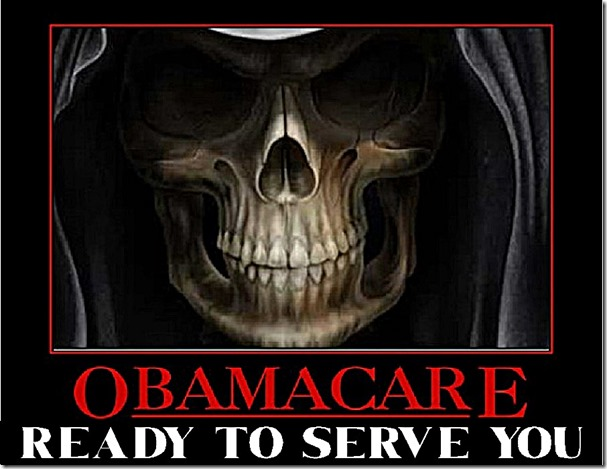 Obamacare Ready to Serve - Death Skull sm