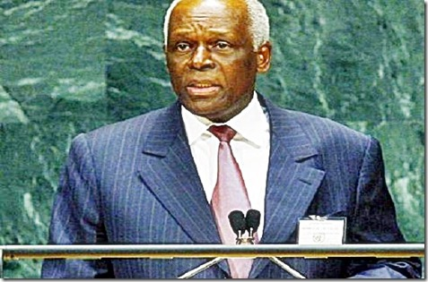 President Jose Eduardo dos Santos of Angola