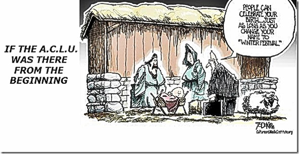 ACLU at Nativity Scene toon