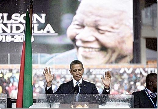 Barack Obama Eulogizing Mandela 12-10-13