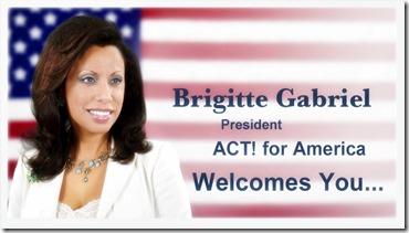 Brigitte  Gabriel - ACT for America banner