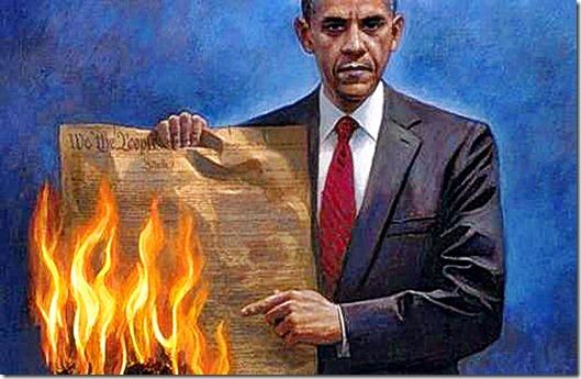 Obama Burning Constitution 2