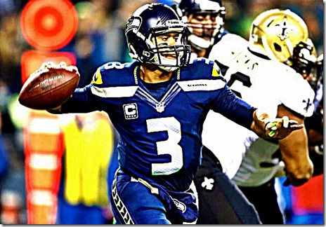 Russel Wilson during Saints game 12-2-13