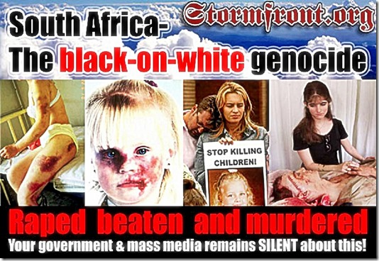 SA Black on White Genocide