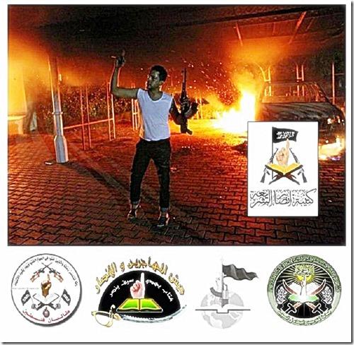 Benghazi Terrorist Using al Qaeda symbolism 9-11-12