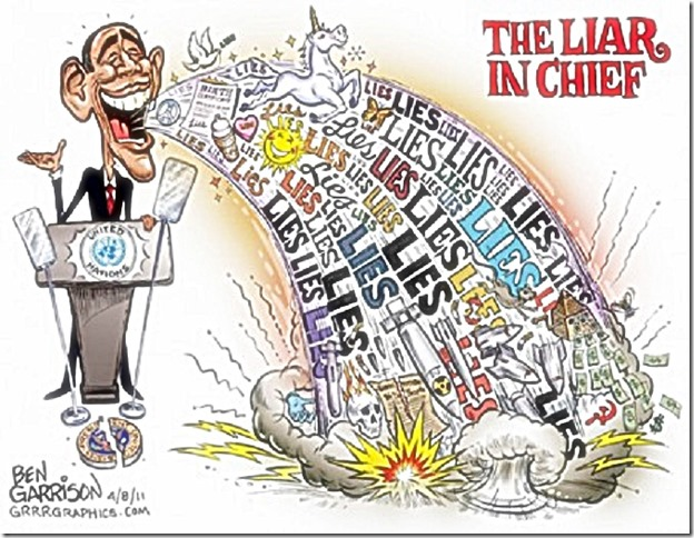 State of Union- Obama Liar-In-Chief toon