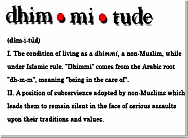 Dhimmitude - 2 definitions