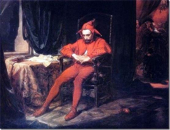 Jester Fool reflecting