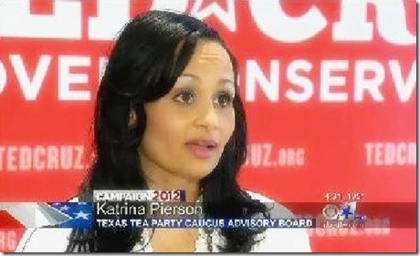 Katrina Pierson Campained for Ted Cruz