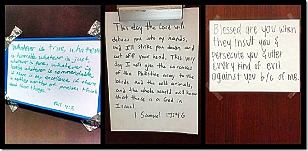 AFA Cadet White Boards with Scriptures