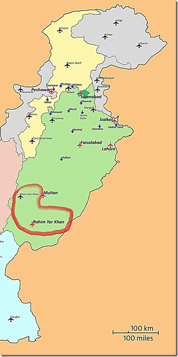 Pakistan- Circle D G Khan & R I Khan