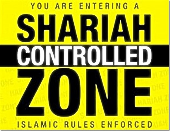 Warning - Enter Sharia Controlled Zone