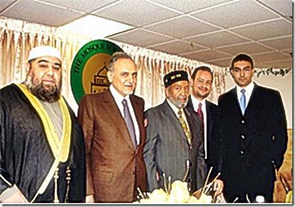 Jamal Said (Far left) and Ahmed Rehab (Far right)