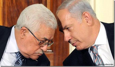 Mahmoud Abbas & Benjamin Netanyahu