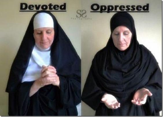 Nun-Devoted Hijab-Oppressed