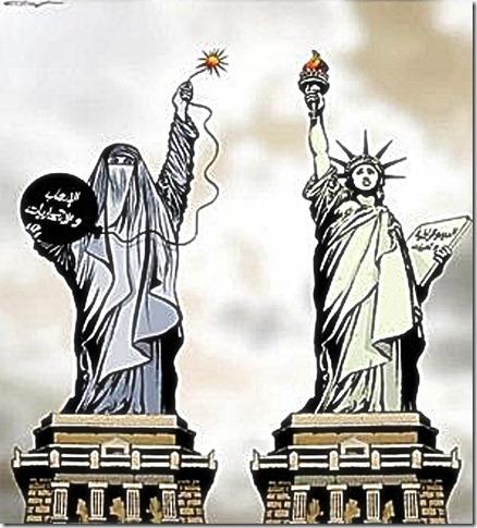 Burka or Lady Liberty