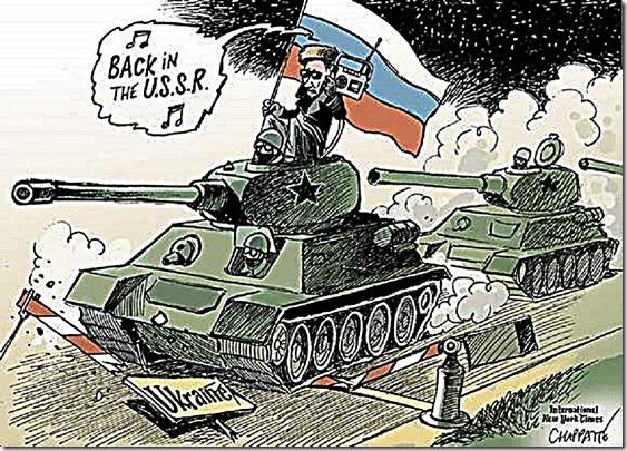 Russia to Ukraine - Back in USSR toon