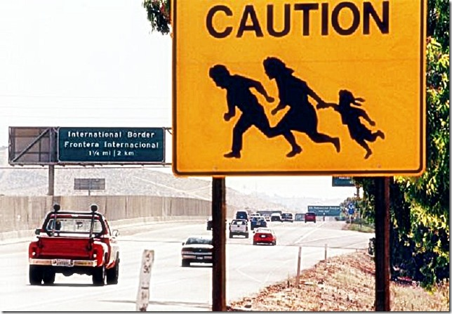 Caution Illegal Alien Crossing