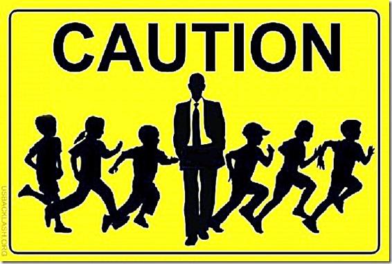 Caution Sign- Obama crossguarding child illegal aliens