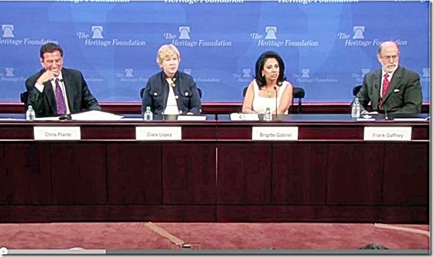 Chris Plante, Clare Lopez, Brigitte Gabriel & Frank Gaffney