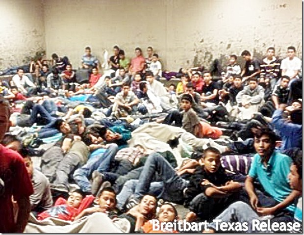 Illegal Immigrant children packed like sardines