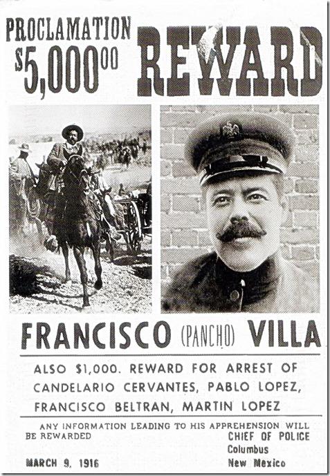 Pancho Villa Wanted Poster