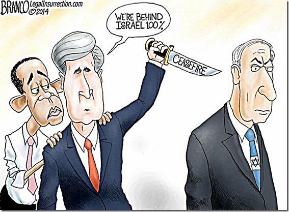 BHO-Kerry stab Netanyahu in back over Ceasefire