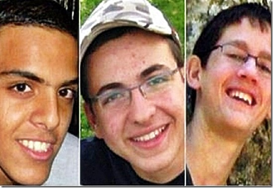 Kidnapped Eyal Yifrach, Gil-ad Shaar & Naftali Fraenkel murdered 6-12-14