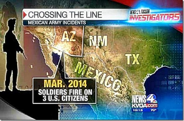 Mexican-Army crosses border shoots at USA - screen capture