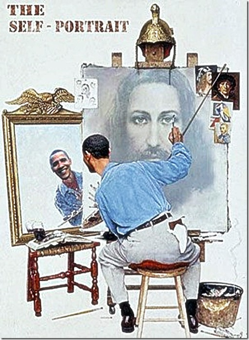 Obama Jesus Self-Portrait