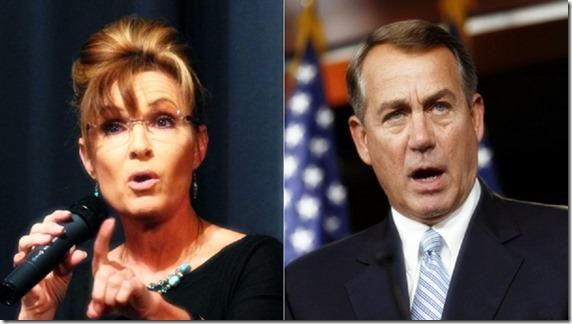 Sarah Palin - John Boehner