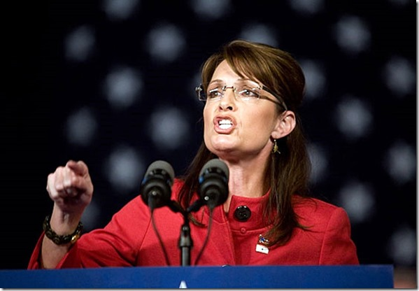 Sarah Palin makes a point