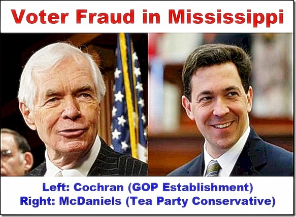 Voter Fraud MS - Cochran & McDaniel