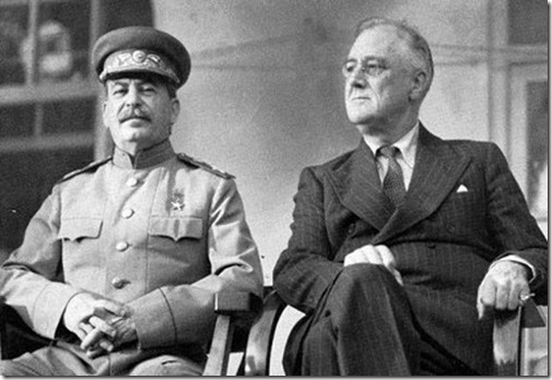 Stalin-FDR sitting side-by-side