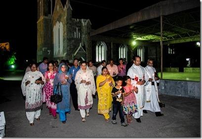 Christians Marching in Memory Peshawar Church bombing